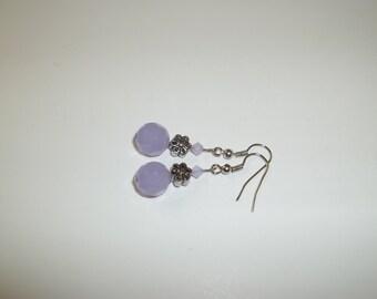 Purple Pansey Earrings