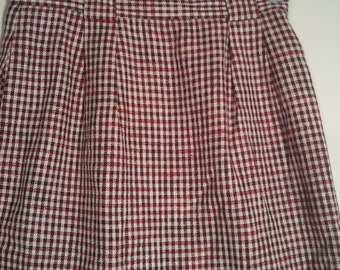 Liz Claiborne erd black white skirt boho bohemian size 6 punk 80s 1980s secretary hitchcock pencil skirt