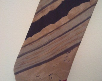 Men 80s tie Architect stripes brown earth tones cocktail lounge Playboy Mad Men preppy