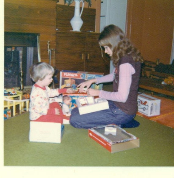 1970s christmas morning playskook tonka truck gifts