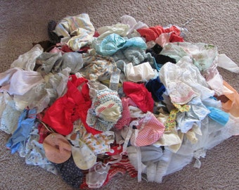 HUGE Lot of Old Vintage Doll Clothes Dresses Shirt Skirt Pants - Sold in lots of 50