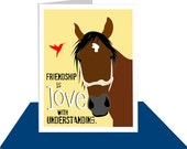 Horse Friendship Greeting Card