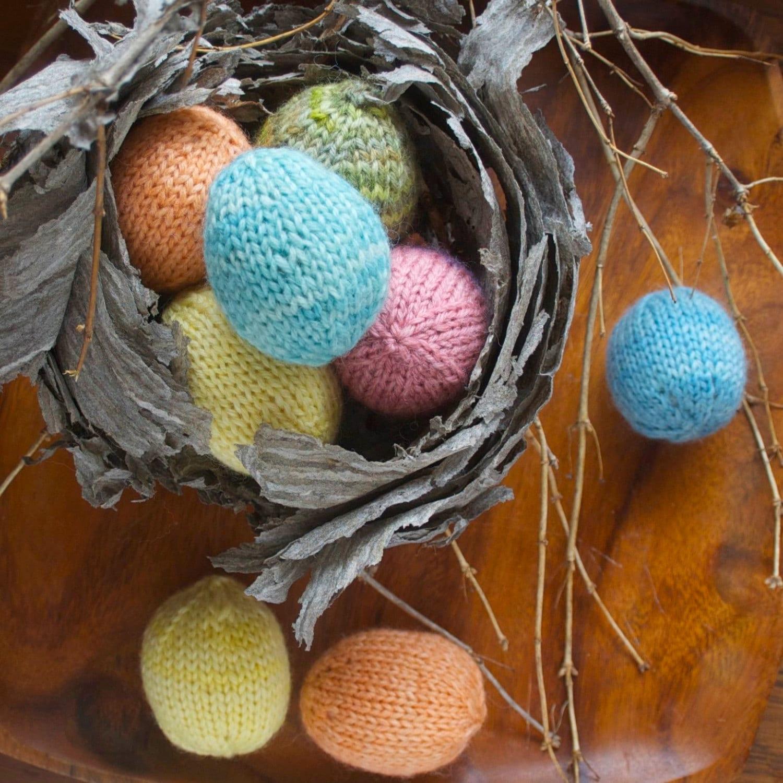 Knitting Pattern Spring Easter Eggs Diy Easter Decoration