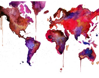 RESERVED ORDER for Jordan world map no 11 sized 24 x 36""