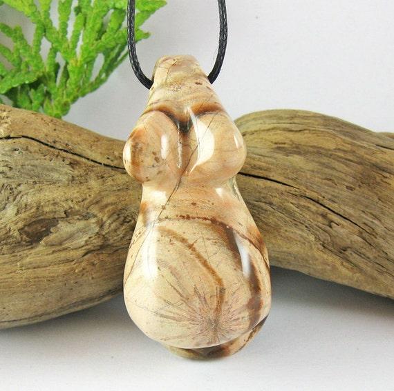 Fertility Goddess Necklace - Cappuccino Jasper Blessingway Necklace