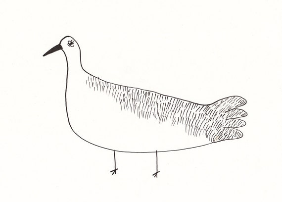 Nice goose / ORIGINAL ILLUSTRATION / ink drawing