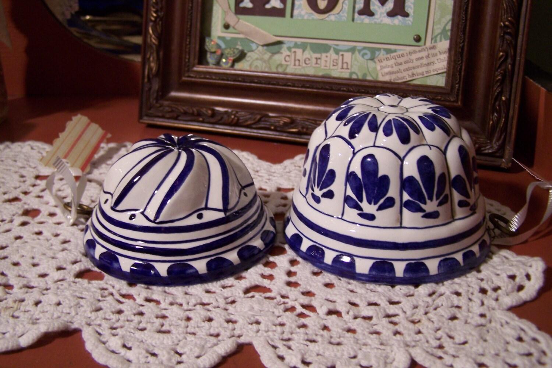 Free Shipping Italain Ceramic Mold Jello Mold Blue And
