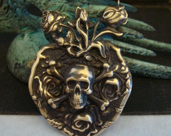 Gothic Necklace Or Supply, Roses For My Love, Necklace Supply For You or Your Customer, HandMade, Original Design, Vintage Ox Dark Patina