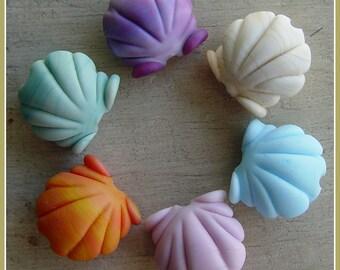 Scallop Sea Shell Summer Lampwork Bead