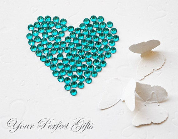 1000 Acrylic Round Faceted Flat Back Rhinestone 4mm Bling Teal Blue FREE shipping USA Scrapbooking Embellishment Nail Art LR039