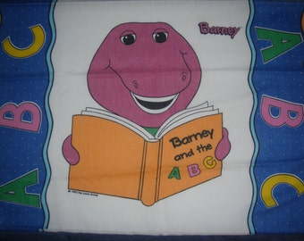 Barney the Dinosaur Pillowcase - Reclaimed Bed Linens