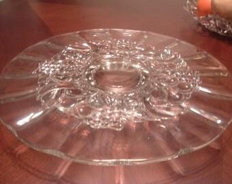 GLASS CAKE PLATE on Pedestal