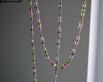 Simple Mardi Gras necklace