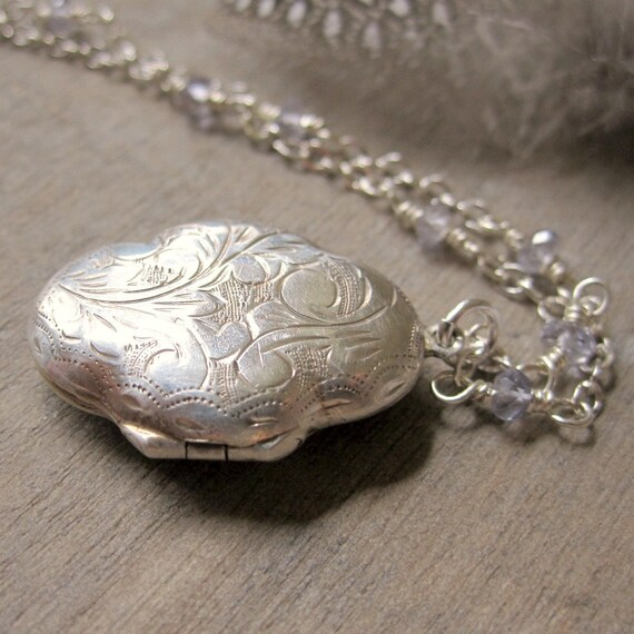 Vintage Silver Locket Unique Locket Sterling Silver By