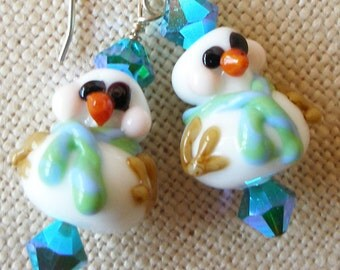 Snowman Earrings, Snowmen Jewelry, Christmas, Winter, Snow, Holiday