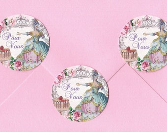 French Style,  Stickers, Marie Antionette, Pour Vous, For You