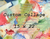 Custom Collage- Personalized Art- Paper|Canvas- 15x22 - Anniversary, Family, Birthday, Special Event