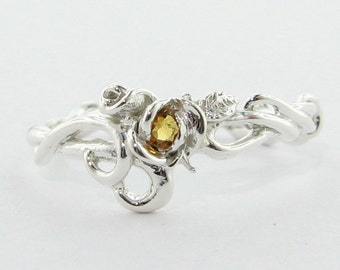 Rose Garden Ring with Citrine