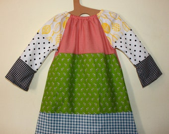Girls dress One of a kind patchwork dress in size 5 to 6years