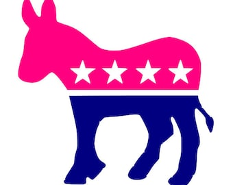 Democrat Donkey Vinyl Decal