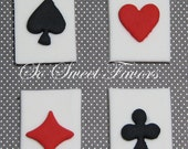 how to make playing cards out of fondant