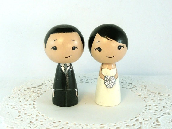 Wedding Cake Toppers Black Hair Couple