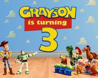 Toy Story Birthday Invitation - FRONT & BACK version