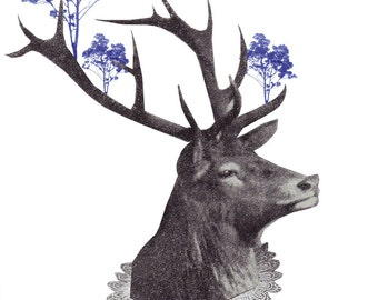Royal Deer Man Limited Edition Screen Print