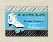 Let The Good Times Roll | Roller Skating Party Invitation | Skate Party Invites | Birthday Skate Party Invites | Kid Birthday Party