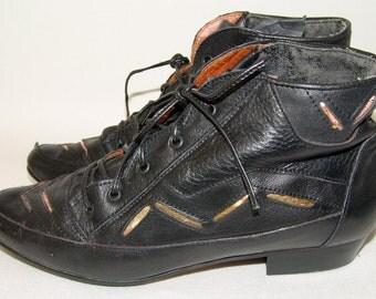 Vintage Black BOOTS, Dr.Marco, 1980-90s