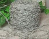 Yarn Icelandic Chill, Light Gray Heavy Worsted Weight Yarn, Silver Grey, Soft Fluffy Long Hair Chenille Bin 16