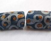 Antique Venetian Fancy Eye Trade Bead Teal Blue-Green Glass