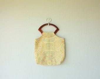 Vintage Tapestry Purse | Vintage 70s Bag | 1970s Bag | Carpet Bag