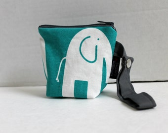 BagEnvy Handbags' Pacifier Pouch - Binky Pouch - In  Elephants in Turquoise - Or Custom Made To Match your Diaper Bag