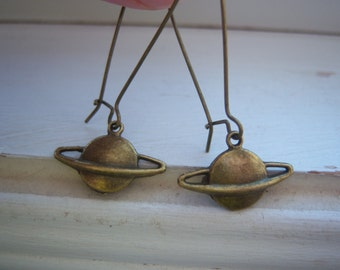 Saturn Earrings  - Planet Earrings
