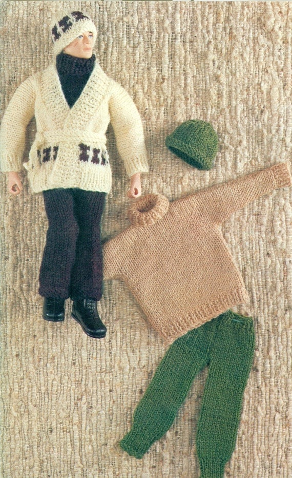 Doll Clothes Knitting Pattern For Male Boy Action Figure Doll
