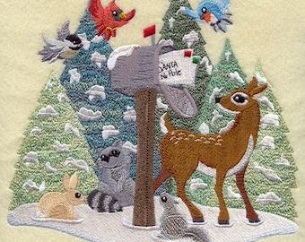 DEAR SANTA We've Been GOOD - Machine Embroidered Quilt Blocks (AzEB)