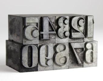 NUMBERS - 36pt Metal Letterpress (Glamour Bold)