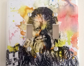 Chewbacca Star Wars Art Decorative Double Light Switch Plate Cover