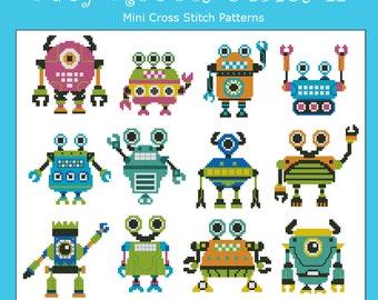 Baby Robots Series II  Minis Cross Stitch PDF Chart