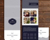 Nautical specialty shaped tri-fold brochure template