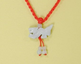 Chinese Zodiac Good Luck Red String Necklace