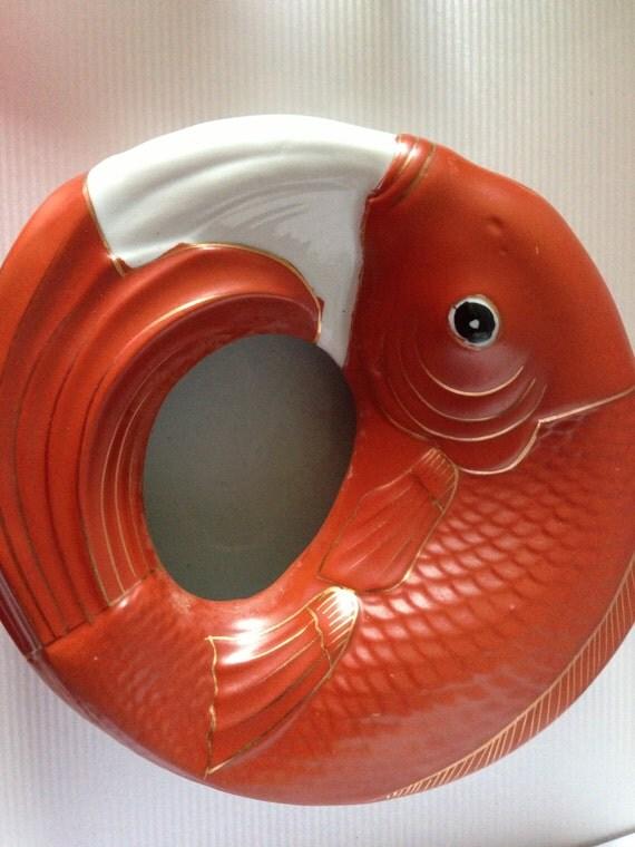 Beautiful vintage neiman marcus koi bowl for Koi viewing bowl
