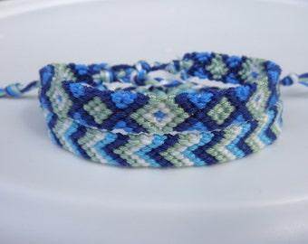 Blue and Green Friendship Bracelet