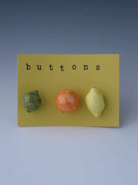 Buttons ceramic buttons novelty buttons fruit buttons for Lemon button