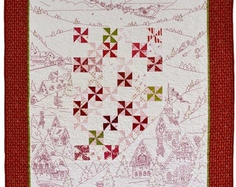 Twas the Night Before Christmas Quilt Pattern by Crabapple Hill 413 Hand Embroidery