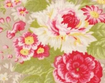 Hill Farm Fabric by Lecien Fabrics Pebble Roses  30550-90