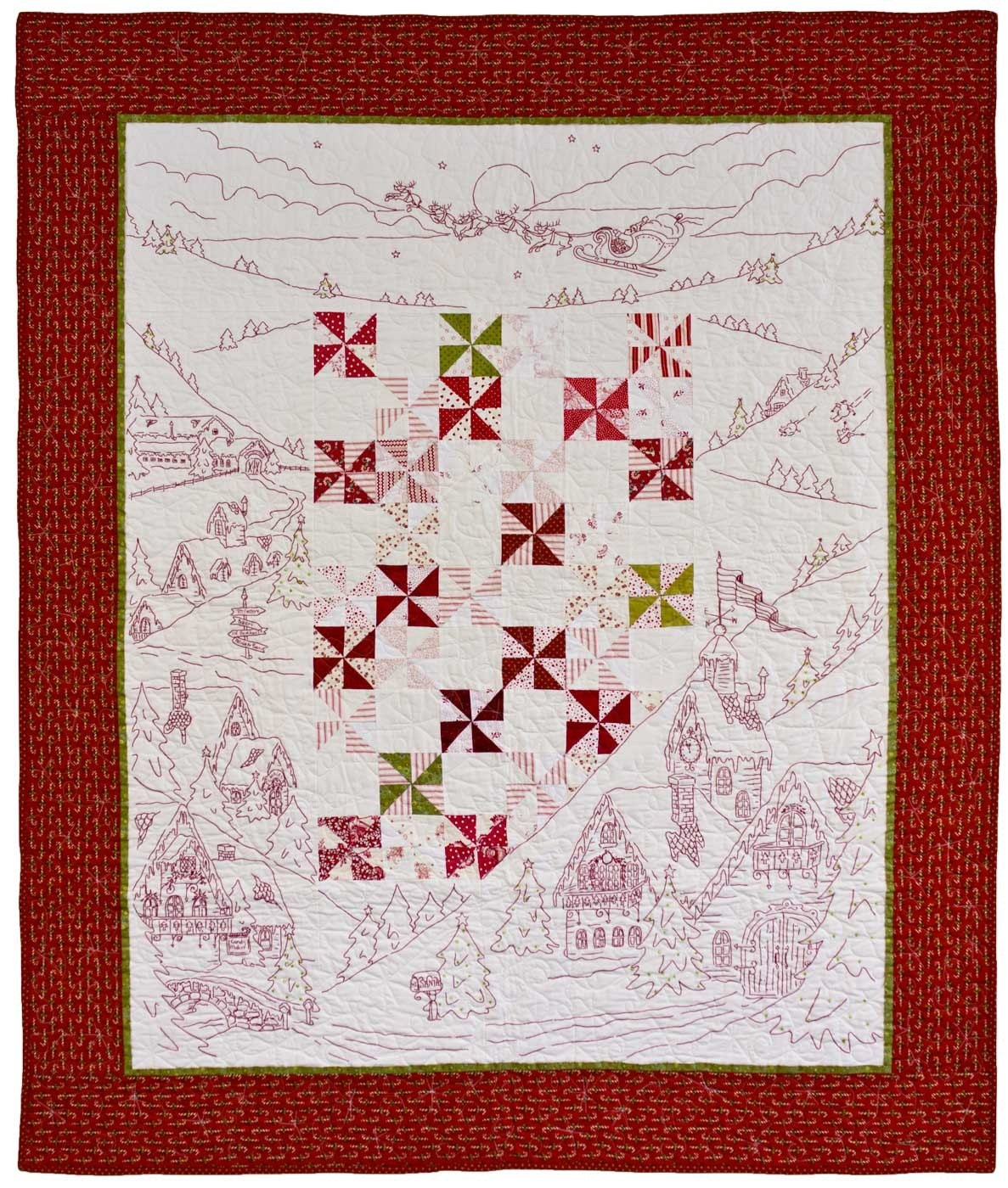Twas the Night Before Christmas Quilt Pattern by by agardenofroses