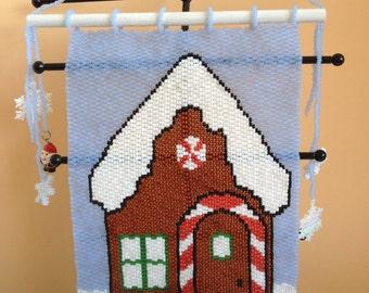 Beaded santas workshop tapestry