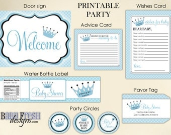 Baby shower - Printable party goods - INSTANT DOWNLOAD - Matches the Rachel design